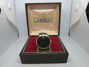 VINTAGE OMEGA DEVILLE CAL.625 14K SOLIDGOLD HANDWIND MENS WATCH WITH BOX