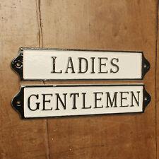 LADIES & GENTS TOILET DOOR SIGN ANTIQUE VINTAGE PUB CAFE RESTAURANT BATH16&17-wh