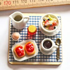 "1/6 scale Set Breakfast Coffee Bread Jam Egg Cornflakes Phicen Figure 12"" Doll"
