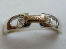 Anillos de joyería con diamantes en oro de oro blanco de 18 quilates