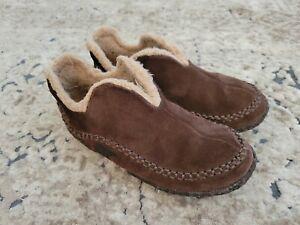 Sorel Manawan Brown Suede House Casual Slippers Shoes NM1466-278 US 8