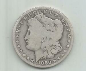 1880  CC    MORGAN  SILVER  DOLLAR  (   CIRCULATED  MORGAN  )