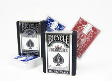 2 Decks Bicycle Prestige Poker Size Playing Cards Red and Blue 100% Plastic NEW