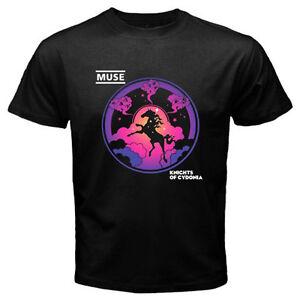 New MUSE Knights of Cydonia Logo Men's Black T-Shirt Size S M L XL 2XL 3XL