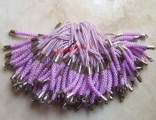 8pz laccetti cellulare 7cm colore argento scuro , viola