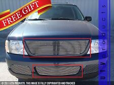 GTG 2002 - 2005 Ford Explorer 2PC Polished Combo Billet Grille Grill Insert Kit