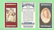 "#Gg1. Ladies & Fashion Cigarette Card Set - 1923, John Player ""Miniatures"""