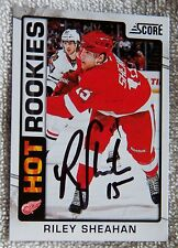 Detroit Red Wings Riley Sheahan Signed 12/13 Score Hot Rookies Card Auto
