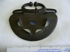 ANTIQUE CAST CALF IRON  NOSE RING AND GUARD FOR STOPPING SUCKING THE COW