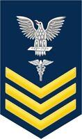 """Hospital Corpsman HM 1st Class E-6 Gold 5.5"""" Rank Sticker / Decal"""