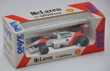 ONYX 003 McLaren Honda MP4/4 F1 diecast car Alain Prost BAR CODE decals 1:43rd