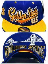 Golden State New Top Pro Bridge Skyline Warriors Blue Gold Era Snapback Hat Cap