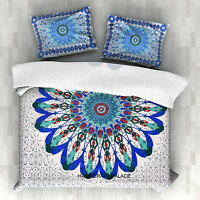 Twin Mandala Duvet Cover Cotton Quilt Cover Indian Hippie Doona Blanket & Pillow