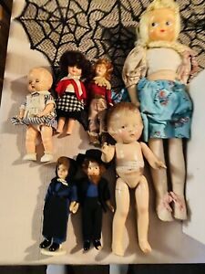 Lot Of Old Dolls
