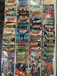 Flash #1-150 1987 near complete run 1-5 annuals variants FULL SHORT BOX DC comic