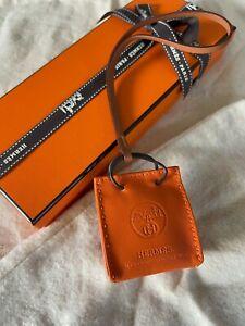 Hermes shopping bag charm orange New/ tag
