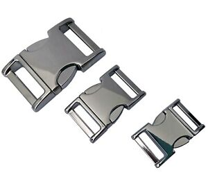 NEW ZINC-MAX -  Strong Metal Buckles, Ideal for Dog Collars etc, 3 sizes