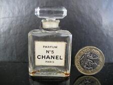 ORIGINAL VINTAGE COLLECTABLE NOVEL 7ml EMPTY CHANEL No 5 GLASS PERFUME BOTTLE