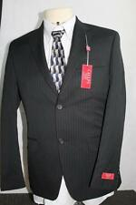 Men's NWT $220 Black Dress Chaps Striped Slim Fit Suit Jacket Sports Coat 38 S