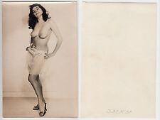 FKK Nackte Frau beim Ausziehen,Female 60ies Girl Nude , Private Photo um 1965 (2