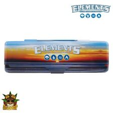 Elements Rolling Papers - Metal Rolling Paper Case - KING SIZE - Papers Included