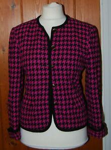 Michel Rene, Vintage, Ladies, Houndstooth, Soft, Blazer, size 12-14