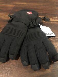 New Rossignol Mens Ski Snowboard Gloves Black Size Medium