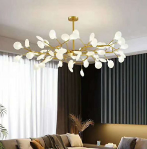 Modern Firefly Plant Pendant Light LED Chandelier Lighting Branch Ceiling Lamp