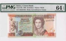 2003 BELIZE 20 Dollars PMG64 EPQ UNC <P-69a>