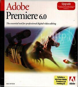 Adobe Premiere 6.0 Upgrade Apple Sealed New Full Retail Box PowerPC Mac 9.0