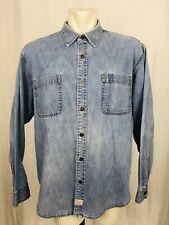 Vintage Levis Denim Shirt Mens XXL Long Sleeved Blue