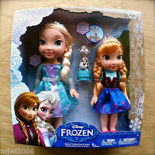 Disney FROZEN Deluxe TODDLER ELSA ANNA Dolls OLAF Princess Royal Reflection Eyes