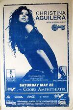 CHRISTINA AGUILERA 2002 SAN DIEGO CONCERT TOUR POSTER - Dance Pop Diva