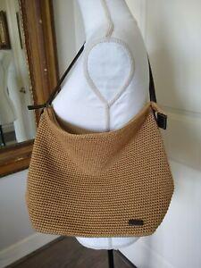 THE SAK Elliott Lucca Wheat Crochet Satchel Shoulder Strap Purse Handbag