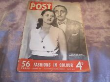 PICTURE POST MAGAZINE 4th Nov 1950 Cover The Gay & Gloomy Mischa Auer & Wife
