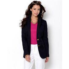 $425 NWT TORY BURCH Med Navy Cotton  ALIZA Jacket Sz 10