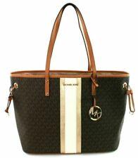 Michael Kors Women's Jet Set Large Tote Bag with Drawstring - Brown