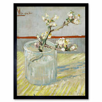 Vincent Van Gogh Sprig Of Flowering Almond In A Glass Art Print Framed 12x16