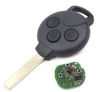 Fernbedienung Funk Schlüssel Tasten 433 MHZ für SMART 451 FORTWO PCF7941 VA2/VA6