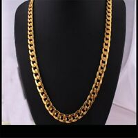 "18/20/22/24/26/28/30"" Men's Stainless Steel Gold Filled Chain Necklace Jewelry"