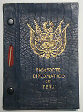 Diplomatenpass Peru 1937 diplomatic passport Peru VISA PAPER SEAL CORDLESS PHOTO