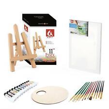 Set 270mm Easel, 15x20cm canvas, Oil Paints 6x8ml, 10 Brushes, Pelette