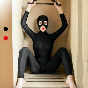 Ladies Party Club Costume Unitard Zipper Bodysuit Zentai Full Body Spandex Suit