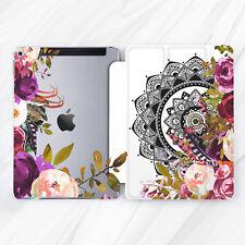 Flower Rose Boho Mandala Retro Case For iPad 10.2 Air 3 Pro 9.7 10.5 12.9 Mini 5