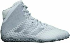 adidas Men's Mat Wizard Hype Wrestling Shoes (12.5, White/Silver)
