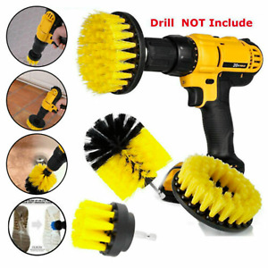 3Pcs/Set Drill Brush Tile Grout Power Scrubber Cleaner Spin Tub Shower Wall Tool