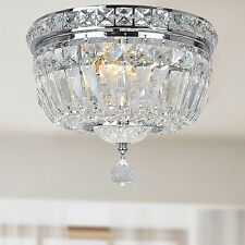 Flush Mount Crystal Chandelier Dining Room Light Fixtures Lighting Ceiling Lamp
