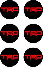 6x TRD Vinyl Decal Sticker Center Wheel replacement