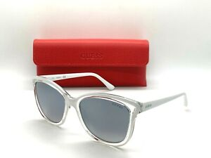 GUESS SUNGLASSES GU 7627 24C WHITE/ CLEAR 54-18-145MM /CASE+CLOTH