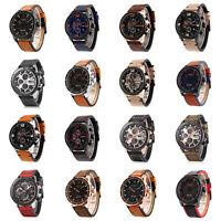Fashion CURREN Genuine Leather Watch Men Luxury Sport Date Analog Army Watch